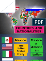 Countries and Nationalities (Verb to Be)