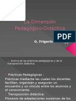 La Dimensión Pedagógico-Didáctica