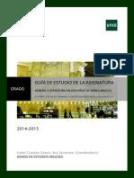 Guía de Estudio II 2014-15 Género y Literatura