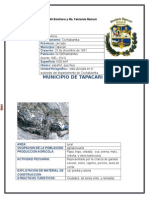 Descripcion del Municipio de Tapacari