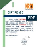 Certificado N.R 20 Flavio Francisco Salvador
