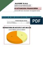 Análisis Financiero de la empresa ALICORP S.A
