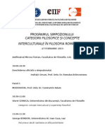 Program Categorii Filosofice Si Concepte Interculturale