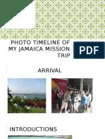 photo timeline of my jamaica mission trip