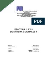 Practica 1, 2 y 3 de Sistemas Digitles 1