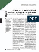 Educacion en La Sexualidad Desde El Enfoque de Género. Morgade2