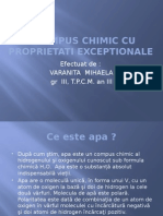 Apa- Compus Chimic Cu Proprietati Exceptionale