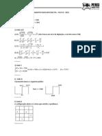 Gabarito Ciclo 0 - Matemática 2015