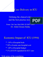 Critical Care Delivery in ICU