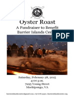 Barrier Islands Center Oyster Roast Program