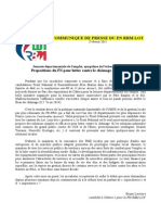 Communiqué de presse Bruno Lervoire - emploi Lot