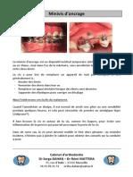 Minivis orthodontiques