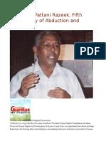 Sri Lanka Pattani Razeek, Fifth Anniversary of Abduction and Murder