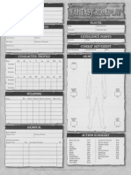 WFRP 2e - Character Sheet (2 Sides)