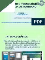 1.2 Tipos de Interfaces