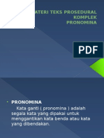 Materi Teks Prosedural Komplek (Pronomina)
