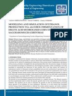 Modelling ethanol inhibition