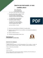 Ficha formativa Camões lírico