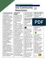 March Newsletter 2015