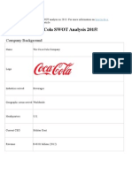 This is the Coca Cola Company SWOT Analysis in 2013