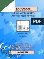 Fisika Percobaan Hukum Archimedes Dan Kapilaritas