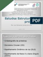 Estudos Estruturais de Proteínas - UFU 2014