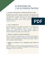 9 Maneras Divertidas de Participar en La Historia Familiar