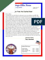 Sand Springs Elks March 2015 Newsletter