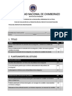 Ficha de Evaluacion de Presentacion de Proyectos