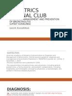 Bronchiolitis guidelines