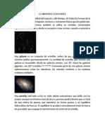 El Universo, Galaxia, Materia, Asteroide, Meteorito, Estrella,Cometa