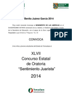 Convocatoria Oratoria SfssfJ-2014