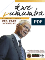 Chokwe Lumumba Commemoration Program Booklet