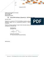 CPNI Certification - Spacenet (2.26.15) Final.pdf