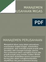 Manajemen Perusahaan Migas