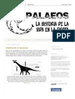 Palaeos, La Historia de La Vida en La Tierra_ Anatomía de Un Saurópodo
