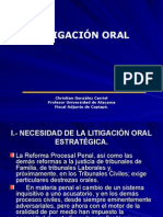 Litigación Oral-Christián Gonzáles