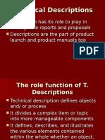 Unit-11 Technical Descriptions