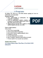 MATH CAREER PROGRAM for SCHOOL Students
