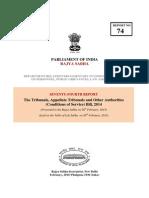 SC Report- Tribunals Bill, 2014