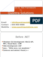 Introduction to .Net Frame work by Quontra Solutions