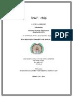 Seminar Report BRAIN CHIP