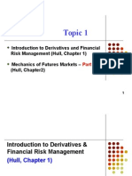 Topic 1 Intro to Derivatives & FRM.mechanics of Future Mkts
