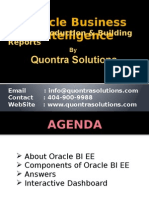 OBIEE- Introduction & Building Reports by Quontra Online Training