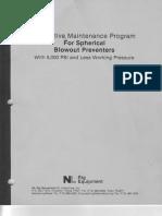 Preventive Maintenance Program for Spherical Blowout Preventer