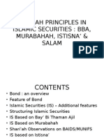 Shariah Princiles in Islamic Securities Bba, Murabahah, Istisna & Salam