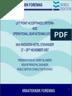 ND Operational Seafastening Systems Presentation