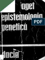 Jean Piaget-Epistemologia Genetica-Editura Stiintifica (1973)