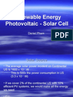 Solar Cell Photovoltaic