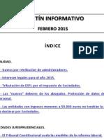 Boletín Informativo RP&GY Abogados - Febrero 2015